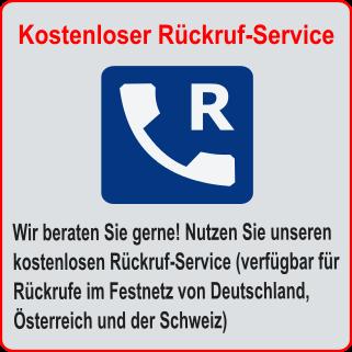 Banner Rückruf-Service