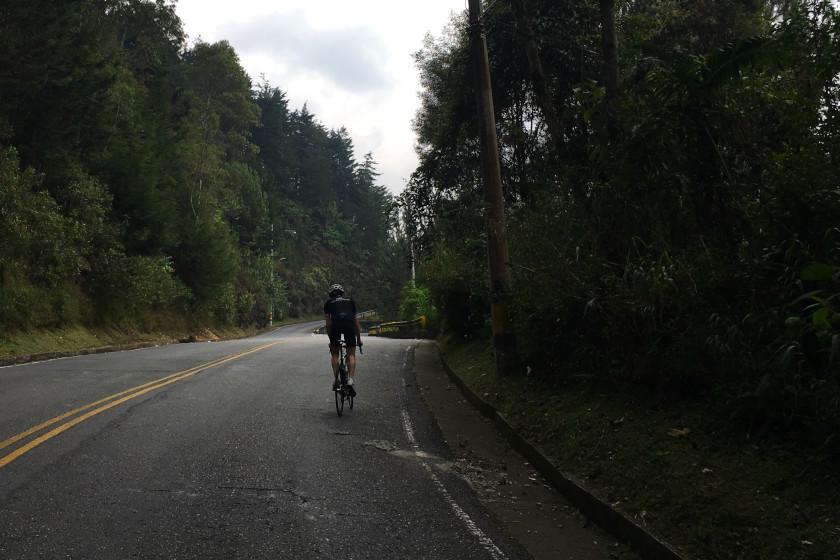 Rennrad Trainingslager Kolumbien: Heftig steil: der legendäre Escobero