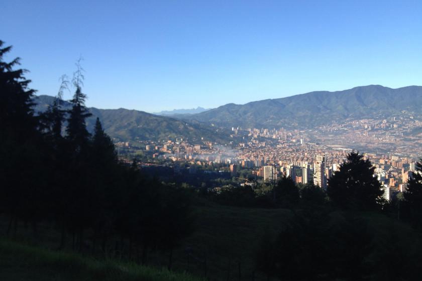Radreise Kolumbien, Blick auf Medellín