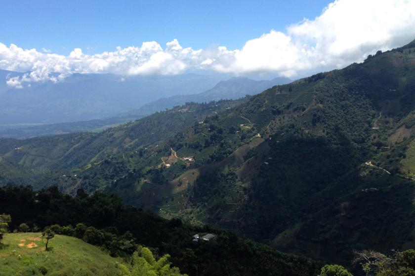 Ausblick beim Höhentraining in den kolumbianischen Anden