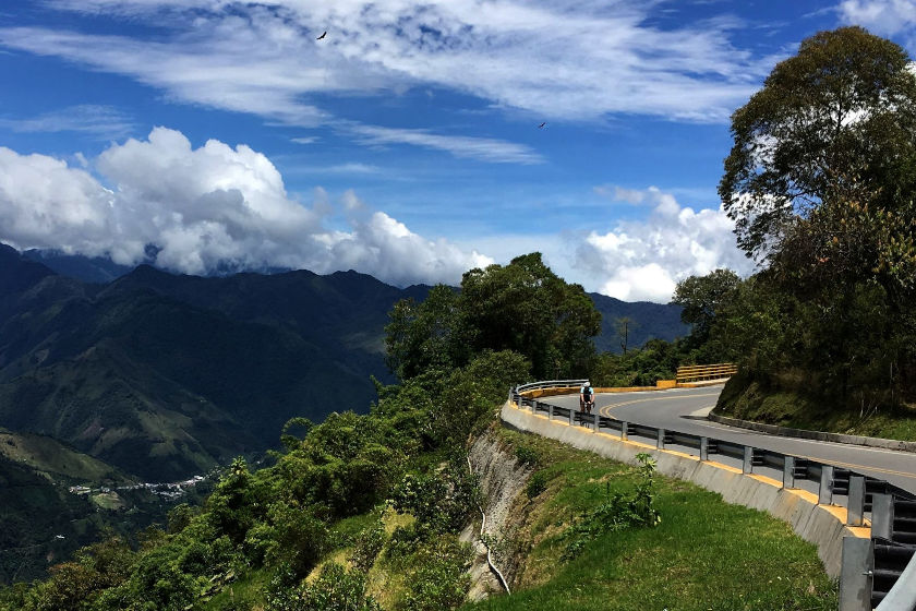 Fantastic views during our tours and cycling camps in the emerald mountains of the Colombian Andes