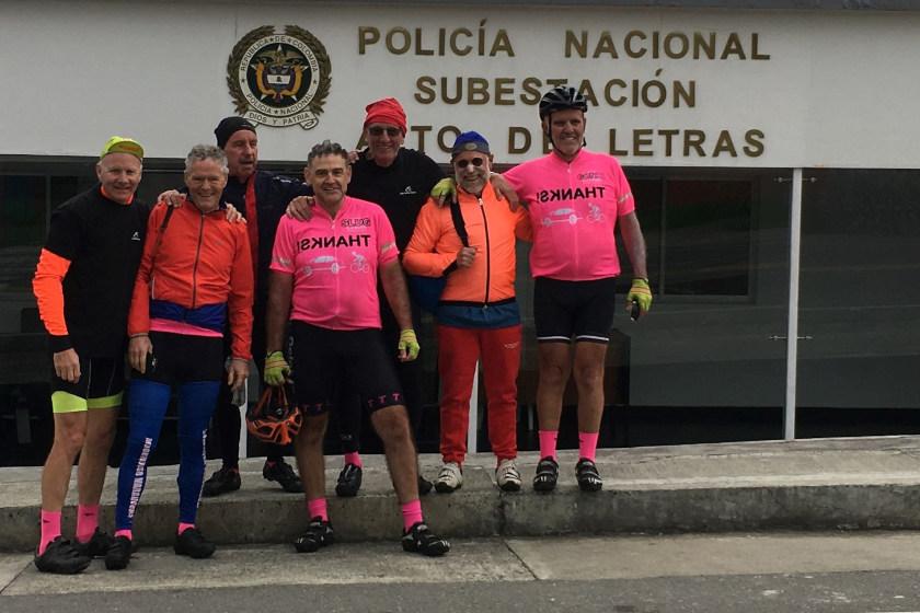 Radreise mit einer Gruppe eines Vereins zum Alto de Letras in Kolumbien