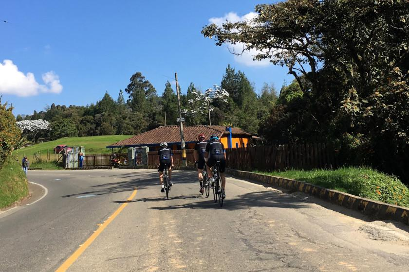 Cycling Camp Colombia: Riding through the area of Santa Elena