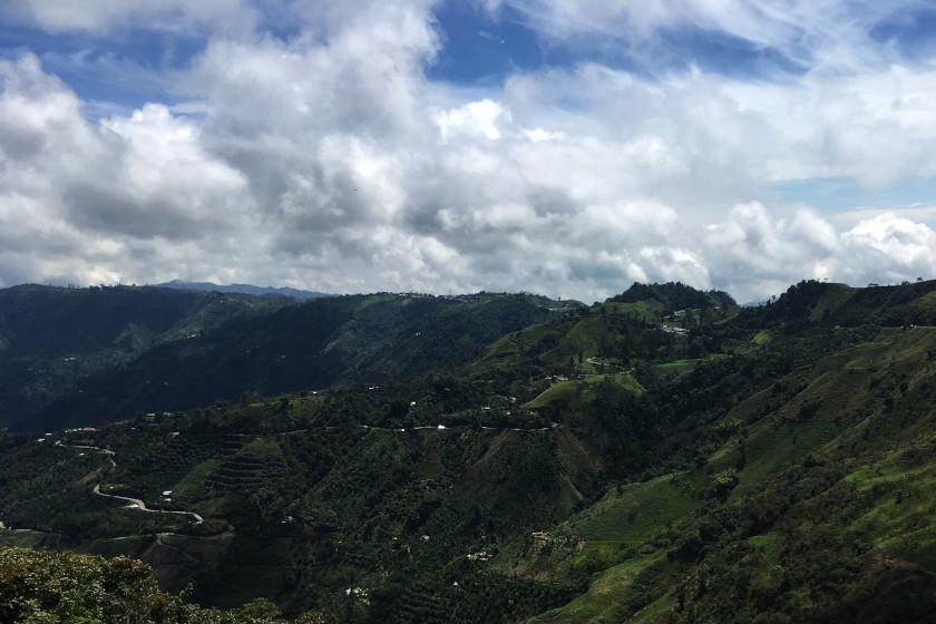 Blick auf den Alto de Letras, dem längsten Pass der Welt