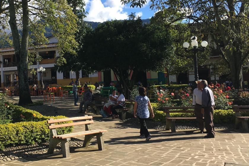"""Rennradreise """"Ruta del Café"""": Parque Principal de Jardín"""